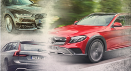 Mercedes E-Class All-Terrain vs Audi A6 Allroad, Volvo V90 CC – first static comparison
