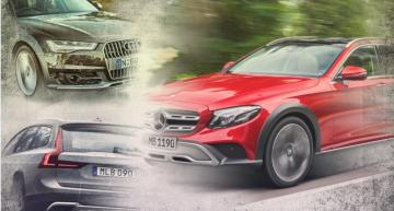 Mercedes E-Class All-Terrain vs Audi A6 Allroad, Volvo V90 CC – first static comparison