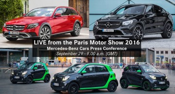 Live stream: Mercedes-Benz Press Conference in Paris