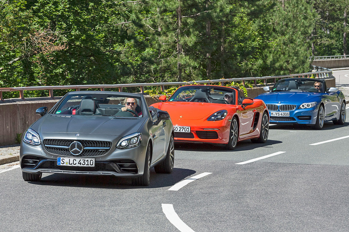 Roadster Triathlon Mercedes Amg Slc 43 Vs Bmw Z4 Porsche