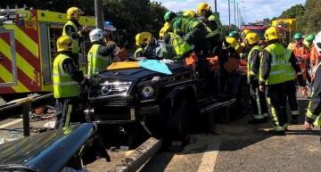 Pape Souare crash: G-Class saves Premier League player