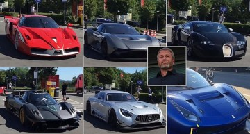Billionaire Roman Abramovich shows off his supercars