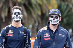 The day the motorsport has gone terribly wrong – Drivers wear Halloween make-up