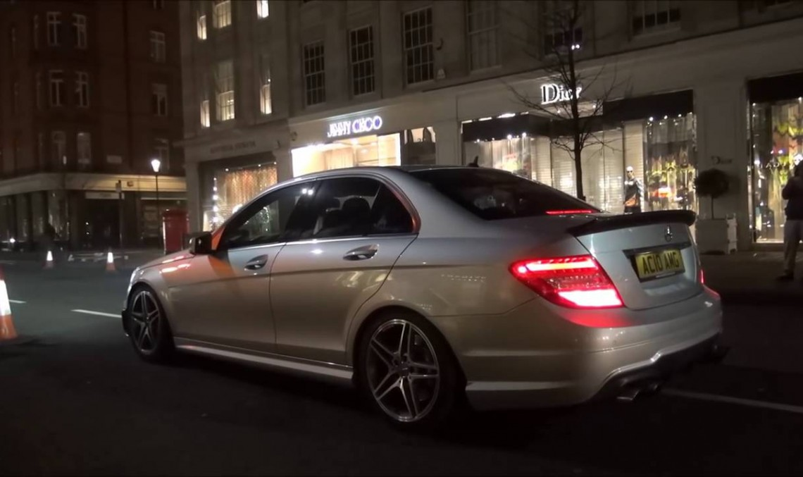 Madly loud Mercedes C63 AMG sets off stores alarms in central London