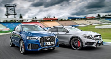 Hot crossovers: Mercedes-AMG GLA 45 vs Audi RS Q3