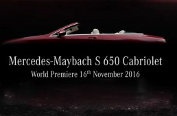 2017 Mercedes-Maybach S650 Cabriolet teased ahead of LA debut
