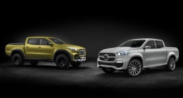 Here is the Mercedes X-Class, the luxury utility vehicle for farmers cultivating panda gold-plated fuzz buds