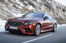 2017 Mercedes E-Class Coupe – Not yet revealed, but already on the road