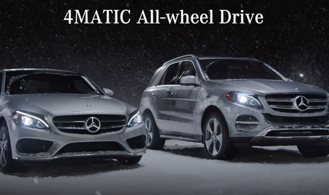 Snow date – The 4MATIC 4-wheel drive will get you there