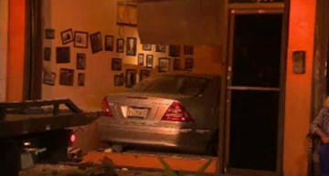 Mercedes-Benz smashes into restaurant in Miami, Florida