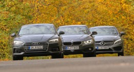 German Diesel Coupes: AUDI A5 2.0 TDI, BMW 420D vs MERCEDES C 250 D
