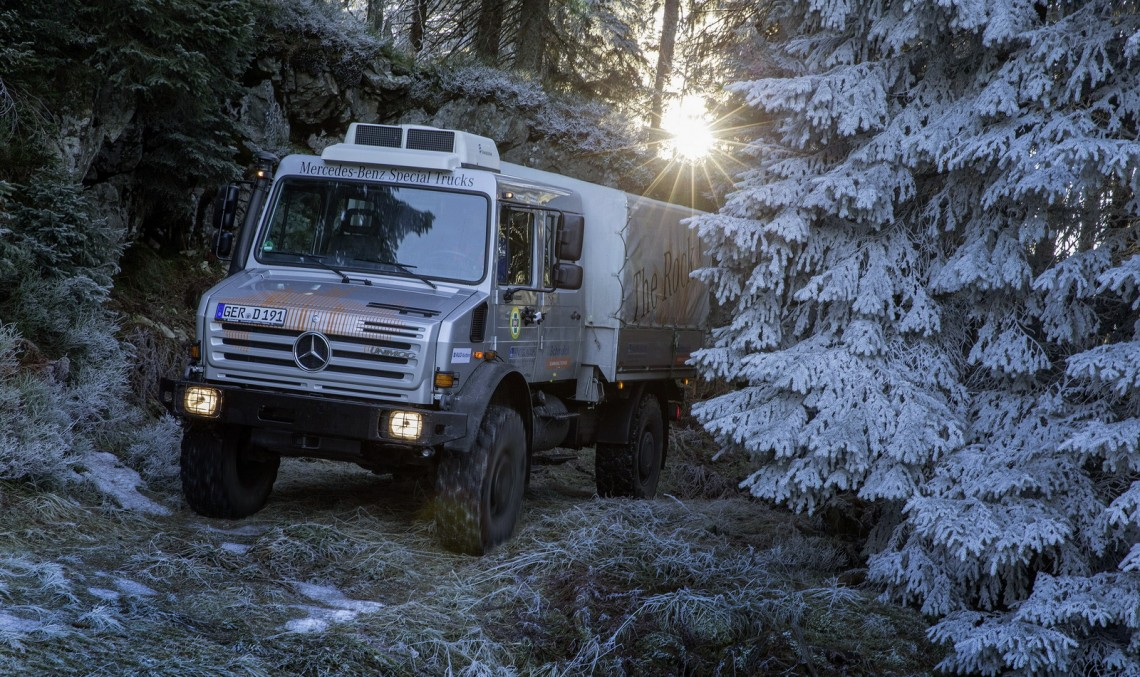 Unimog U 4000 for the mountain rescue team in the Black Forest