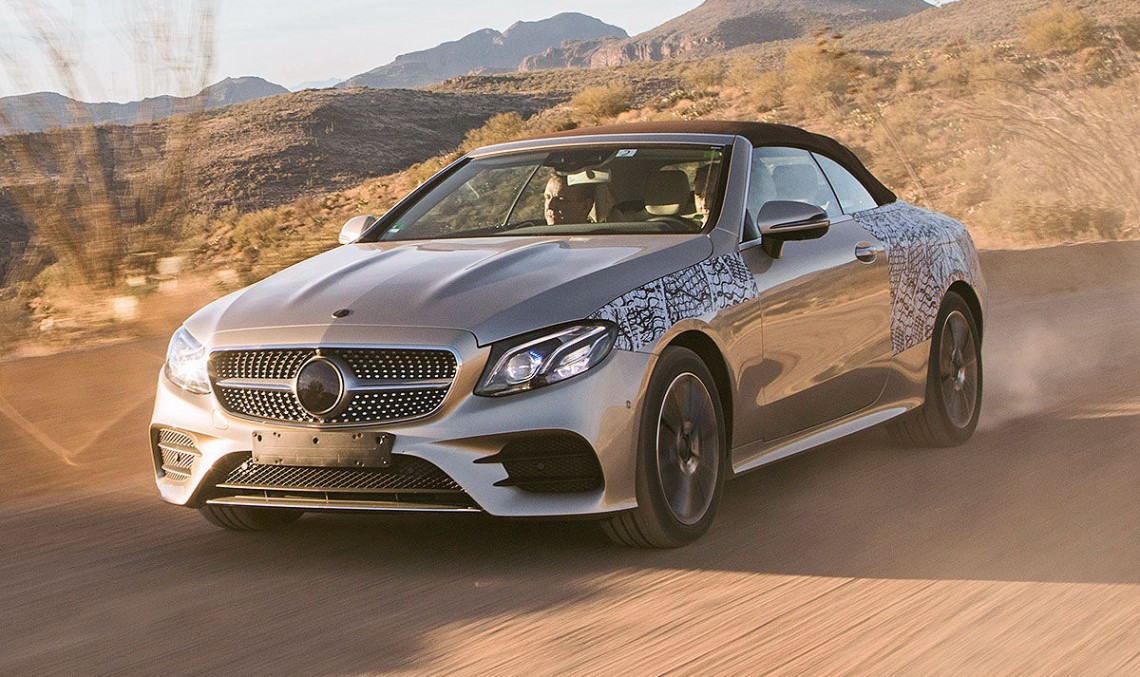 2017 Mercedes E-Class Cabriolet, first photos and passenger ride