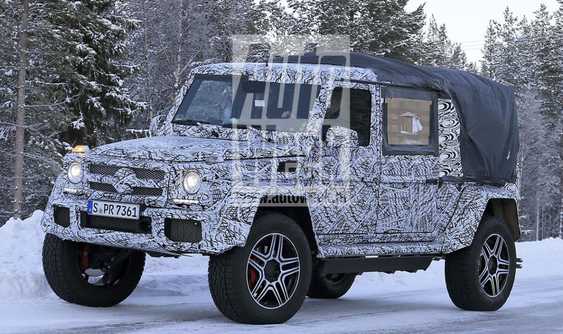 Bizarre Mercedes G-Class 4X4² pickup caught – FIRST SPY PICS