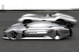 Mercedes-Benz W 196 R Streamliner for 2040: Autonomous 500 km/h vision