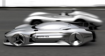 Mercedes-Benz W 196 R Streamliner for 2040: Autonomous 500 km/h vision