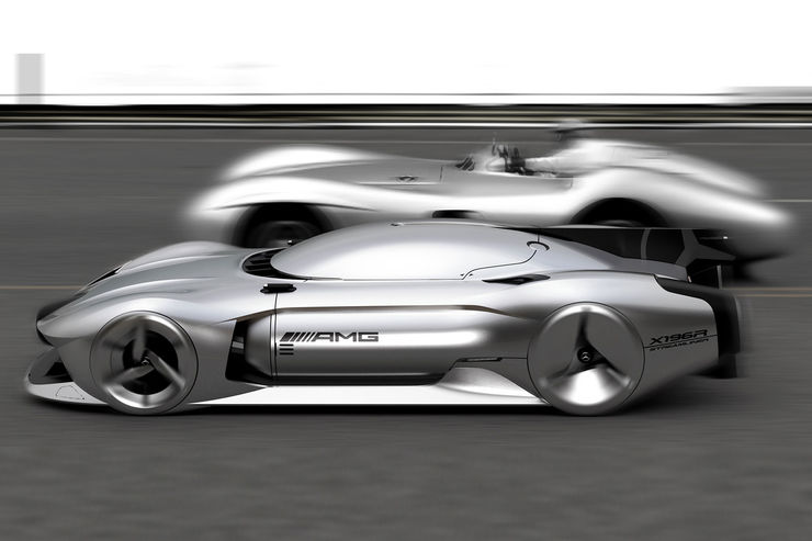 Mercedes Benz W 196 R Streamliner For 2040 Autonomous 500 Km H