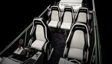Die Sitze im Innern wurden vom AMG Performance Studio mit einem markanten geometrischen Muster gefertigt. ;  The interior seat inserts were crafted by the AMG Performance Studio with a unique and striking geometric patterning.;