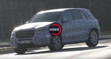 2018 Mercedes GLE, now less camouflaged – new video