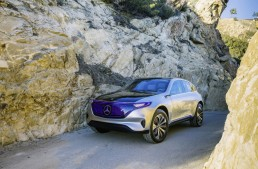 Goodbye, noise, hello, electric! Mercedes advertises Concept EQ