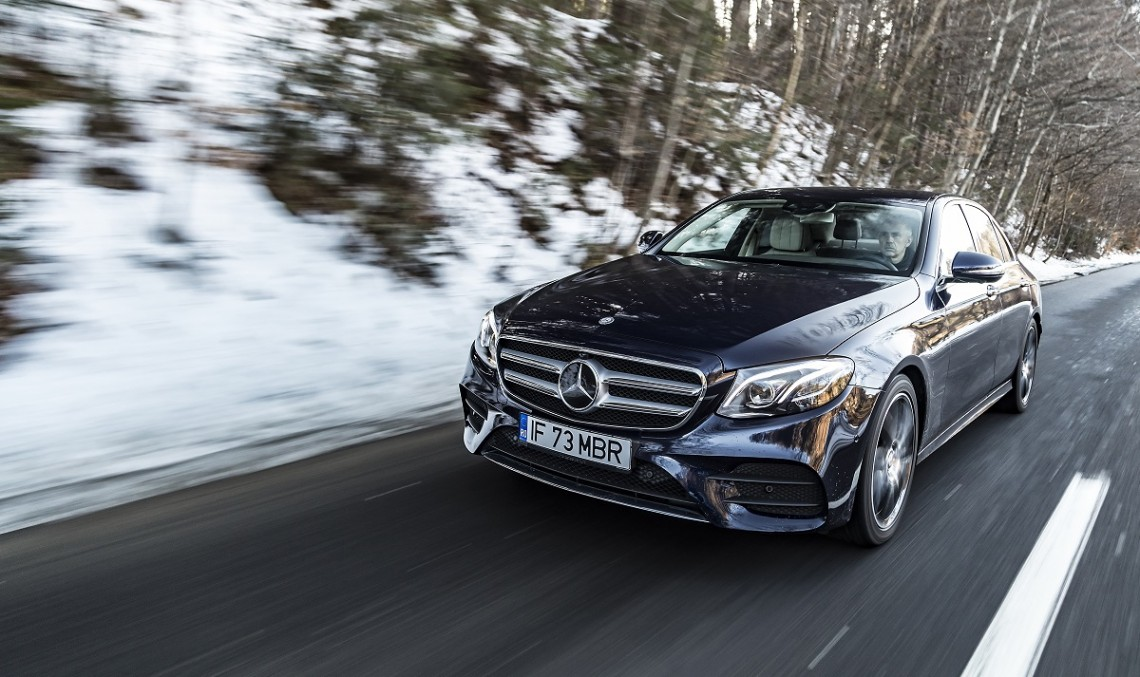 Yes, mother, I'm head over heels! Driving the most intelligent business sedan, Mercedes-Benz E-Class