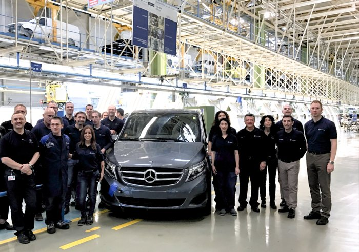 Milestone reached by the Mercedes-Benz Vitoria plant – V-Class number 100,000
