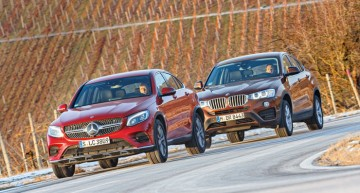 BMW X4 versus Mercedes GLC Coupe: Four-cylinder SUV coupes
