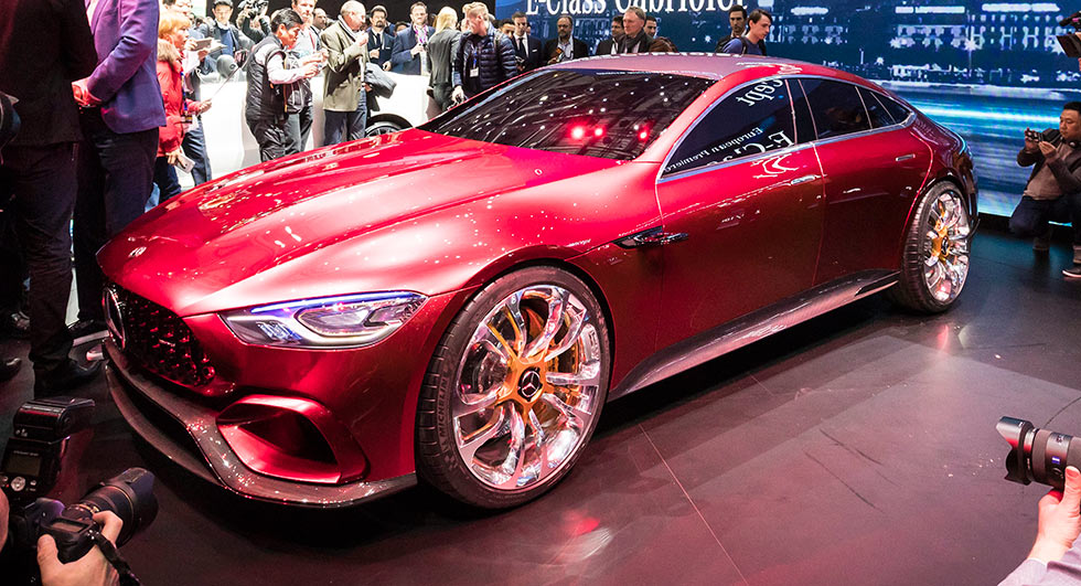 LIVE FROM GENEVA: Mercedes-AMG GT Concept four-door hybrid with 816 PS
