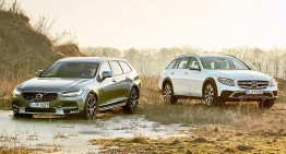 SUV-Wagons: Mercedes E-Class All Terrain vs. Volvo V90 Cross Country