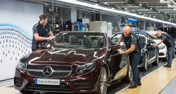 Mercedes-Benz Bremen plant starts production of the new E-Class Cabriolet