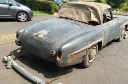 Use your imagination – This $65,000 barn-find Mercedes-Benz 190SL can turn into a dream car