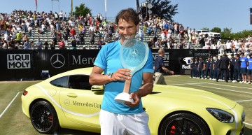 Rafael Nadal, not happy about the Mercedes-AMG GT S he received