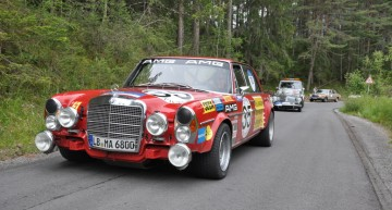 AMG 300 SEL 6.8 (W 109), authentic replica of the 1971 racing tourer, at Arlberg Classic 2013.