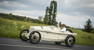 """Mercedes Grand Prix racing car from 1914 at Classic Insight """"100 Years French Grand Prix in Lyons"""", April 2014."""