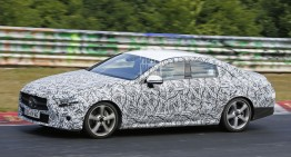 New Mercedes CLS spied on the Nurburgring
