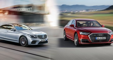 The new Audi A8 vs Mercedes S-Class facelift