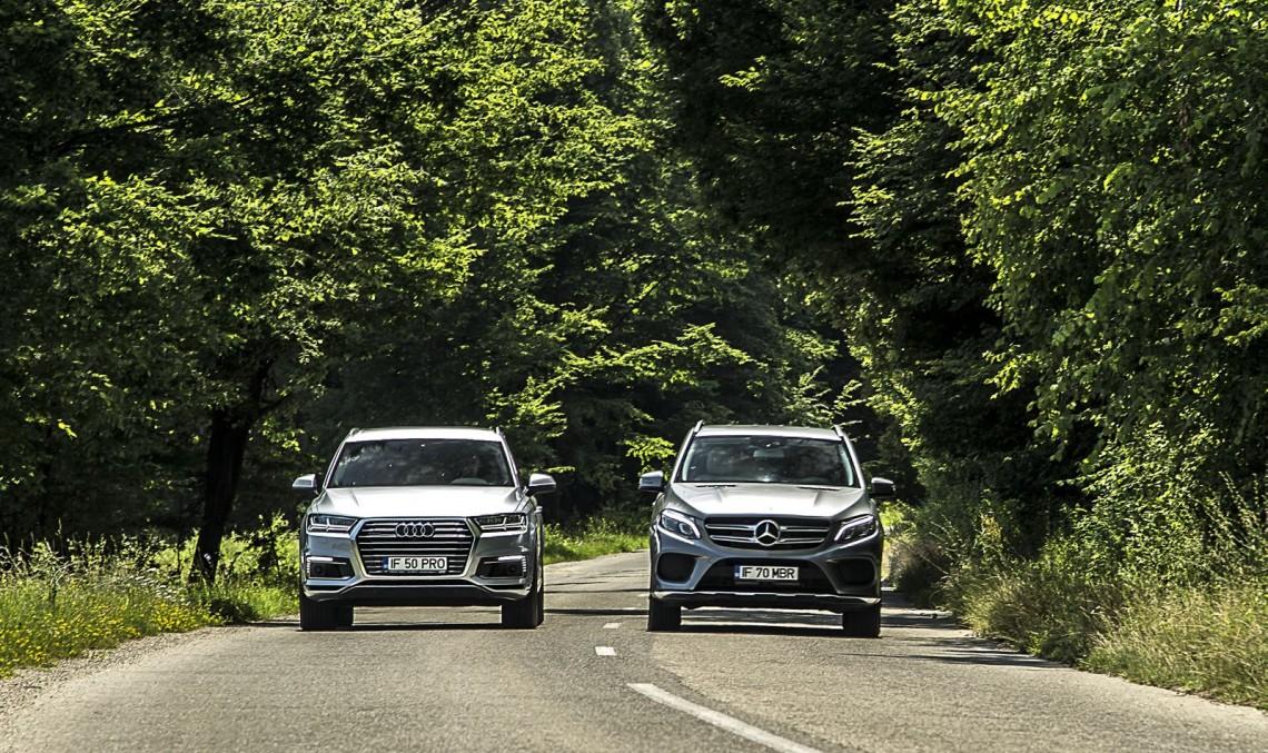 Hybrid SUV, small thirst: Mercedes GLE 500 e vs. Audi Q7 e-tron