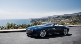 California Dreamin' – Vision Mercedes-Maybach 6 Cabriolet is shown in Pebble Beach