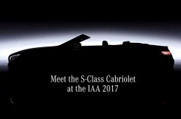 FIRST TEASER: Mercedes S-Class Cabrio facelift debuts at IAA