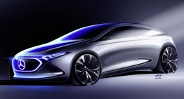 Image to behold – The Mercedes EQ A Concept teased ahead of Frankfurt debut