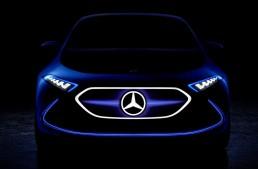Mercedes EQ A Concept teased ahead of its Frankfurt debut