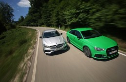 Power-limo showdown: Mercedes-AMG CLA 45 versus Audi RS3