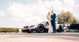 Until death do us part – DTM driver uses his racing Mercedes-AMG C 63 as a wedding car