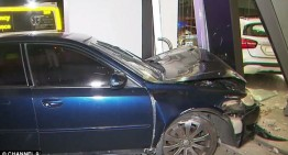 All turned to dust – Car crashes into Mercedes-Benz dealership
