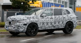 All-new Mercedes GLS spied for the first time in production clothes