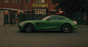 The intruder. The Mercedes-AMG GT R hits Maranello