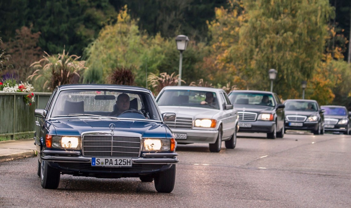 The pinnacle of luxury: six generation of the Mercedes S-class driven by Car magazine