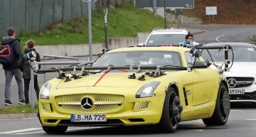 Mercedes uses the electric SLS AMG to test autonomous technologies