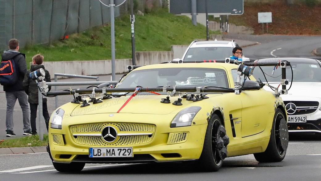 Mercedes uses the electric SLS AMG to test autonomous technologies