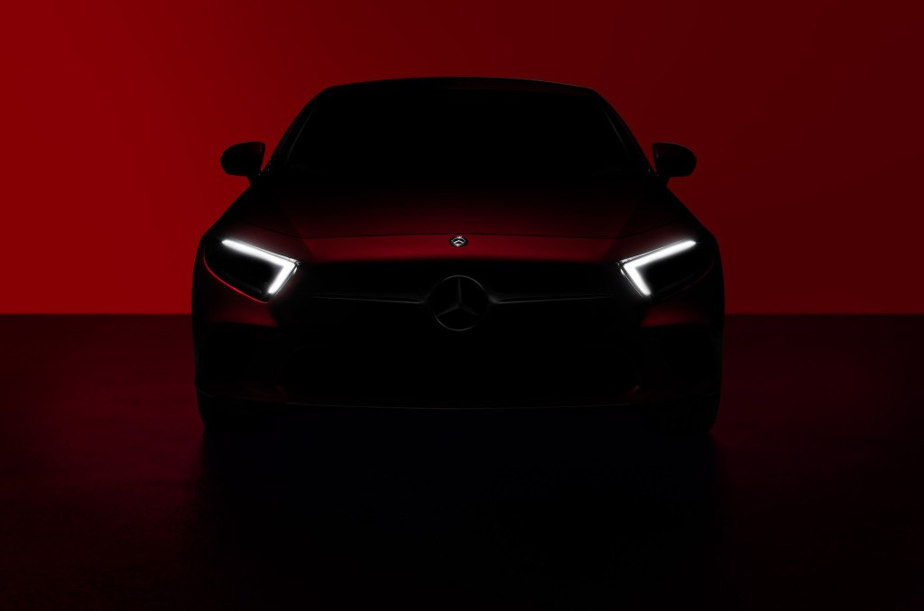 Mercedes-Benz CLS timidly teased before its debut at the LA auto show